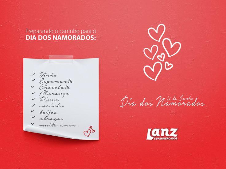 Cartão de namorados desenvolvida pela Agência Conceito para o cliente Supermercado Lanz.
