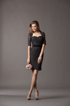 @Amy Watters black and lace bridesmaid dress