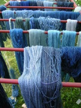 yarn dyed with woad... wish people kept track of photo authorship... it migth be Bleu de Lectoure. If it is your photo, let me know and I will be pleased to add your credit :)