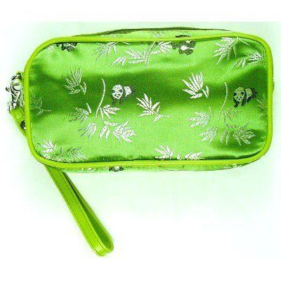 Fashion Accessory - Green Panda Makeup Bag by In Gifts. $7.49. 7 1/2 inch x 4 inch x 2 1/2 inch. Panda design brocade. This is a nice makeup bag made of panda design brocade. It is 7 1/2 inch wide, 4 inch high and 2 1/2 inch deep.