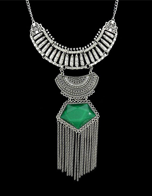 Collar+piedra+preciosa+largo+-verde+8.33