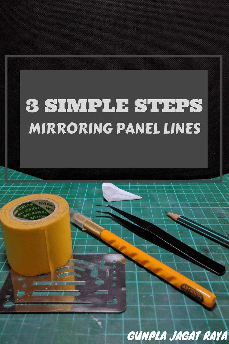 Gunpla tutorial. Gunpla techniques on mirroring panel lines.