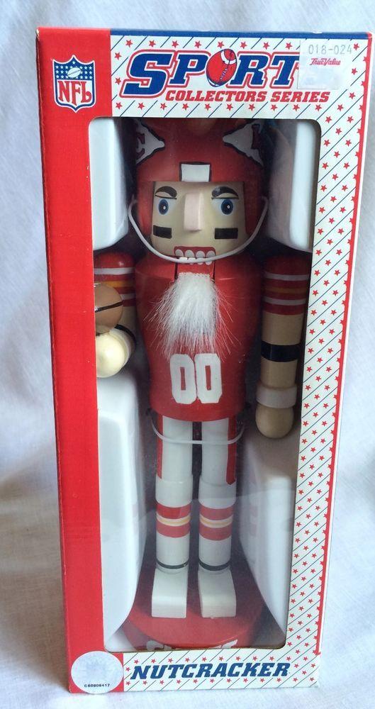 NFL Sports Collectors Series Kansas City Chiefs Nutcracker Wooden New in Pkg #NFLSportsCollectorsSeries #KansasCityChiefs