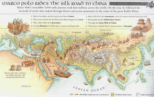 Marco Polo S Journey To China 1590x1004 Silk Road Map Silk Road Marco Polo