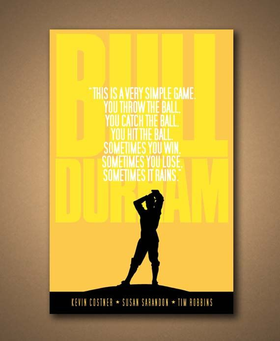 Bull durham, Durham and Movie quotes on Pinterest
