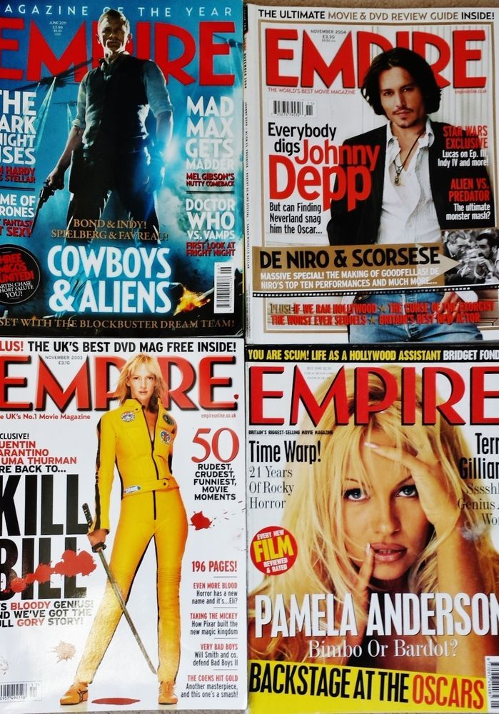 EMPIRE Magazines Collection Job Lot Cowboys & Aliens Kill bill Johnny Depp