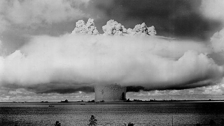 Every second a large hurricane lasts, it releases the energy of 10 atomic bombs. (Photo by National Archives/Getty Images)