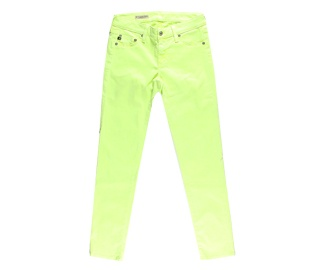 <3 Lime Green AG Adriano Goldschmied Cigarette Leg Jeans, $159.: Sweet Tooth, Lime Green, Brite Colors