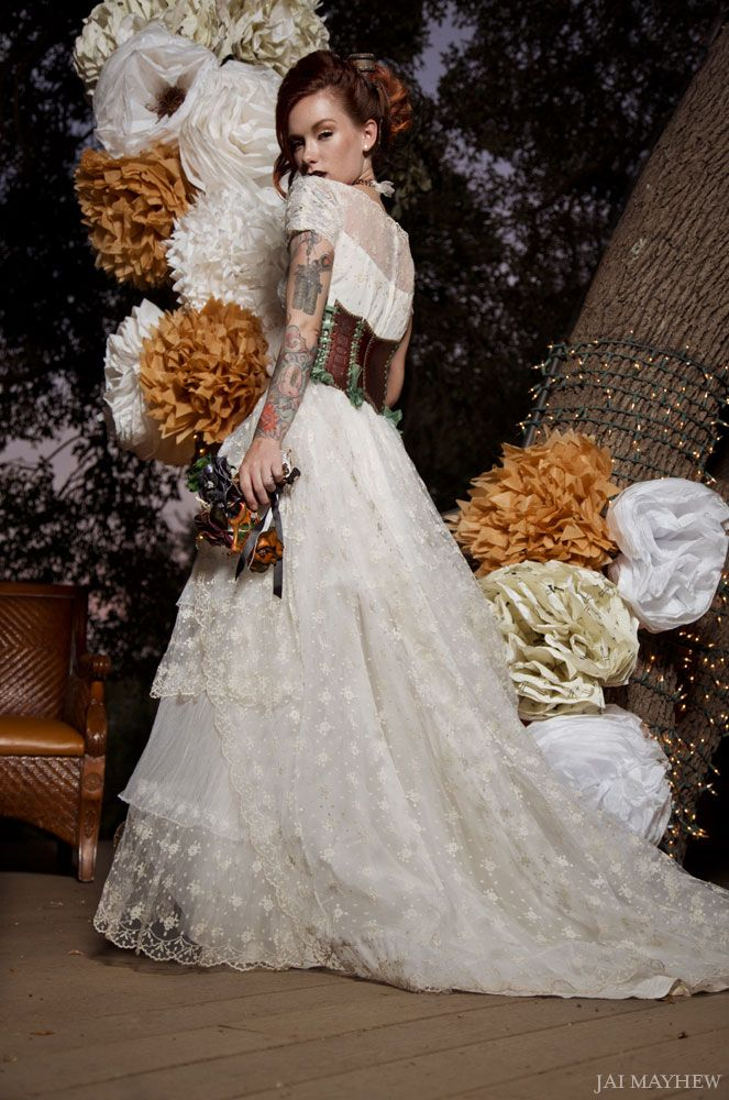 Steampunk Wedding, leather corset wedding dress --so far the only one I'd do....