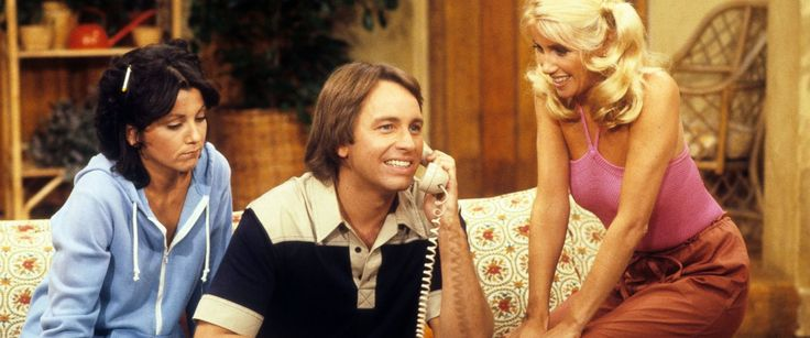 PHOTO: Joyce Dewitt, John Ritter, and Suzanne Somers appear in a scene from
