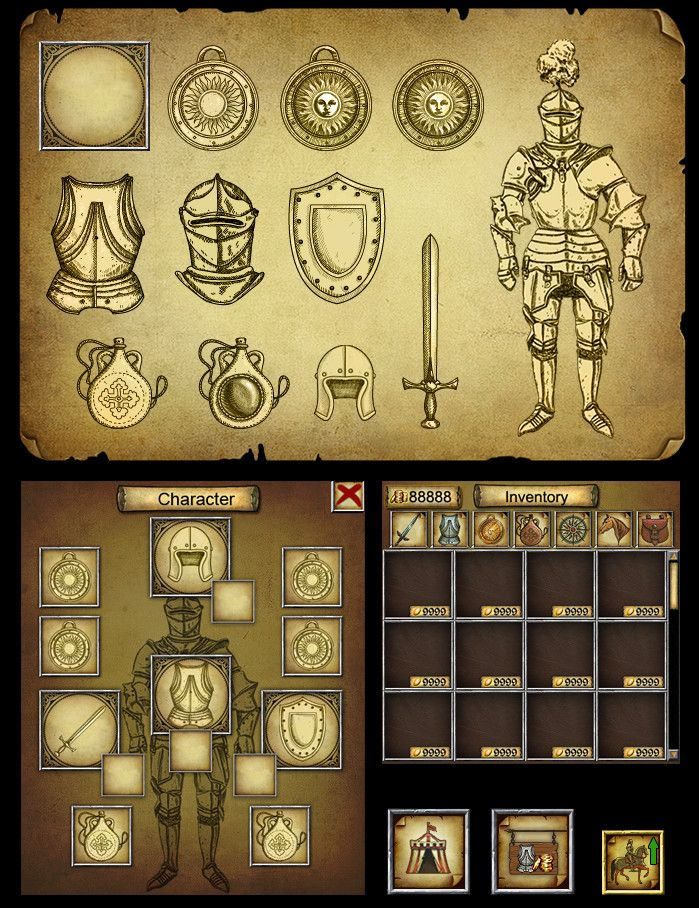 "ArtStation - Creating interface for ""Legends of Eisenwald"", Svesla Tasla"