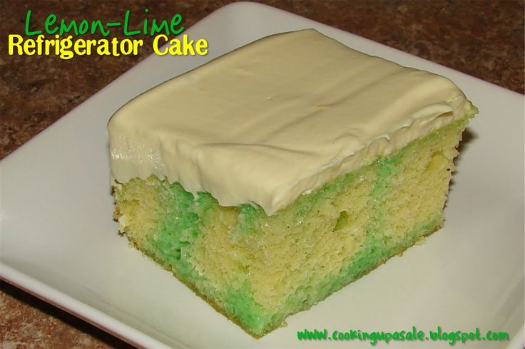 refrigerator cake, lemon cake and lime jello | This recipe was originally posted in conjunction with the Meijer ad ...