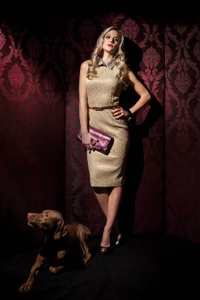 Fanni Weisz model wearing Karman Jewelry Bubble Ring and Bracelet.  Photo: Pal Nanasi  LA Femme Magazin 2012 / Winter