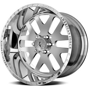 American Force Baus SS6 Polished Custom Truck Wheels & Rims