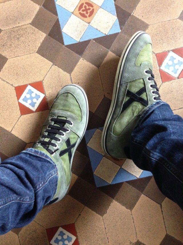 Green Munich sneakers by @Rubèn