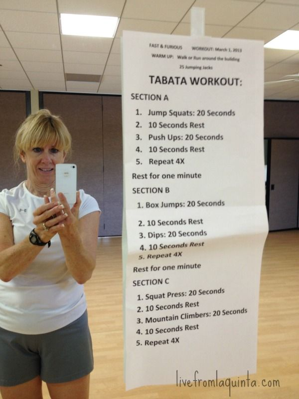This challenging Tabata Workout needs minimal equipment and takes less than 30 minutes.