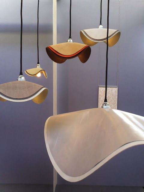 Layed Leather Lamps