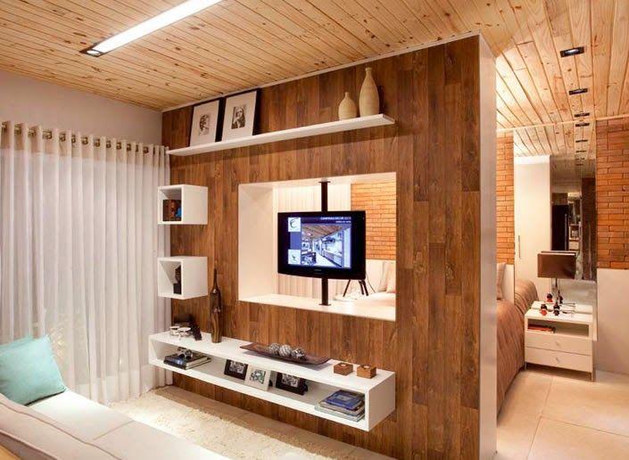 Decor Salteado - Blog de Decoração e Arquitetura : TV giratória – veja ambientes versáteis e integrados com essa novidade!