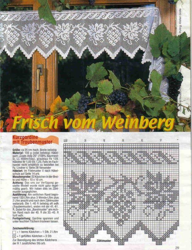 124 mejores im genes sobre cenefas en pinterest cortinas de encaje punto de crochet y patrones. Black Bedroom Furniture Sets. Home Design Ideas