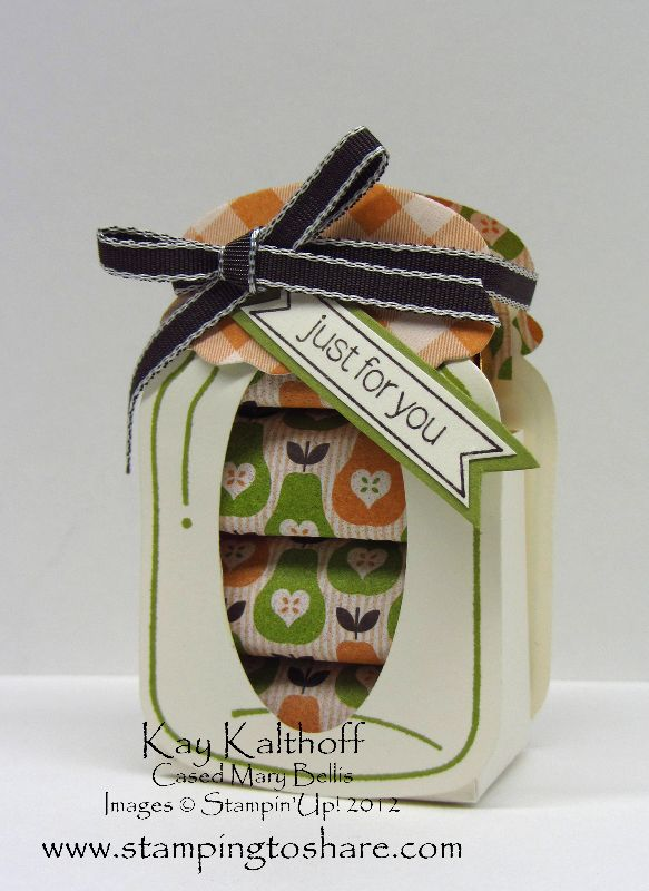 Stampin Up Christmas Craft Fair Ideas Part - 46: 8/20 Stampinu0027 Up! Perfectly Preserved Nugget Jar