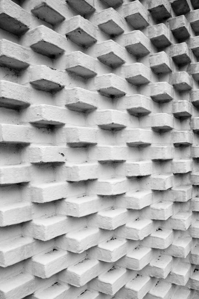 A unique patterned brick wall at the Louisiana Museum of Modern Art