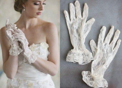 Koronkowe rękawiczki