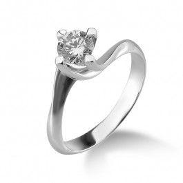 Bijuteria teilor: Inel de logodna  aur alb cu diamant