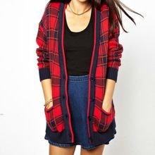 Wholesale Red Checks Coat Jackets Women Winter  Best Seller follow this link http://shopingayo.space