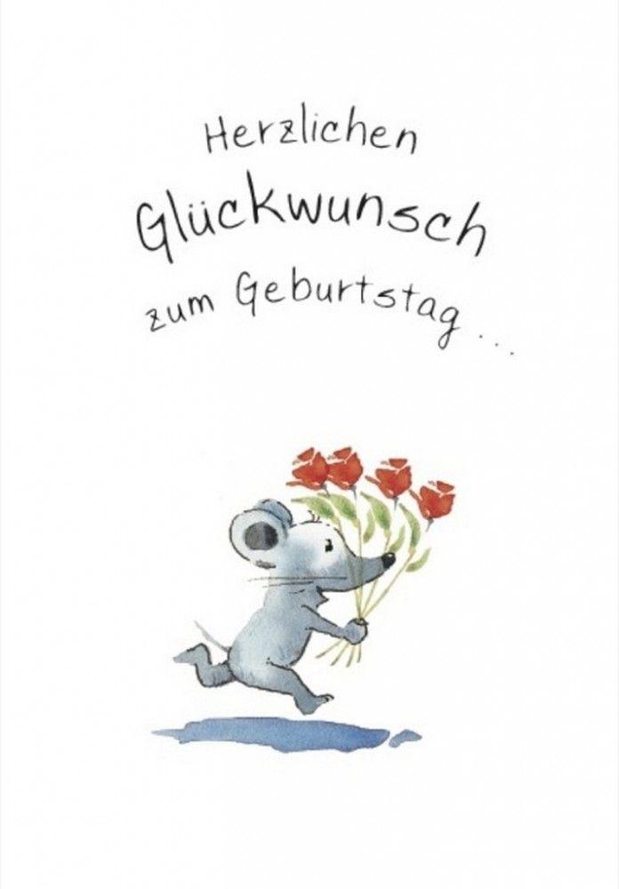 Herzlichen Glückwunsch zum Geburtstag -Klappkarte Grußkarte von Helme Heine