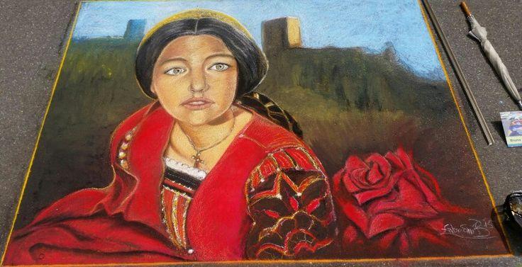Juliet Capulet. Blumberg chalk festival.