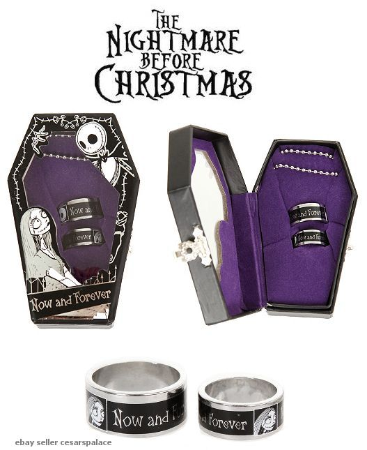 jack and sally wedding band idea - Nightmare Before Christmas Wedding Rings