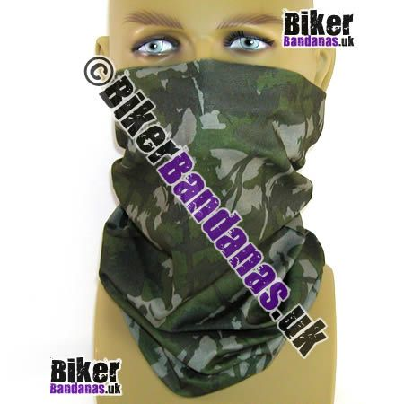 Khaki Camouflage Multifunctional Headwear / Neck Tube Bandana.  One of over 400 Styles for Men and Women