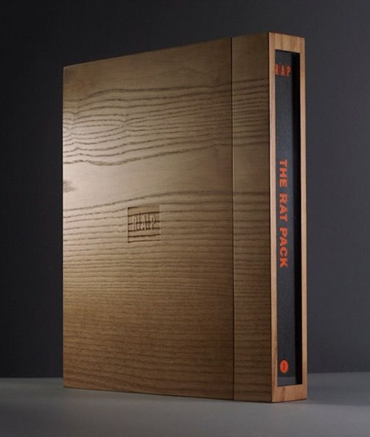 Box designed for Real Art Press to hold limited edition books on the Rat Pack