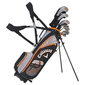 Callaway XJ Hot Junior Golf Club Set for Boys - Ages 9-12 - Right Hand - Black/Orange