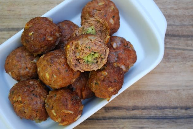 Lamb Meatballs stuffed with Avocado! via @themmsisters
