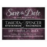 Amethyst Purple Grape Sangria Goth Save the Date Magnetic Card
