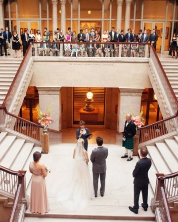 For A Contemporary Modern Wedding Consider The Venue Style This Ceremony Took Place In A