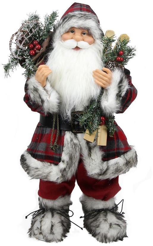 Plaid alpine standing santa...he's super cute! he could double as a Jul Nisse lol. ❤️ Aff