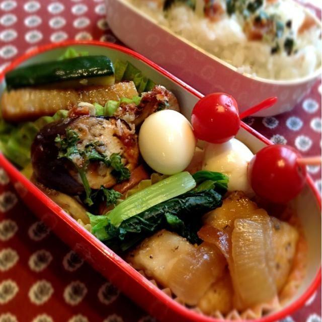 カジキの黒酢炒め小松菜のおひたしナスとエリンギのパン粉焼き長芋とキュウリの中華風炒めウズラの卵 - 18件のもぐもぐ - カジキの黒酢炒め弁当 by rumtomo