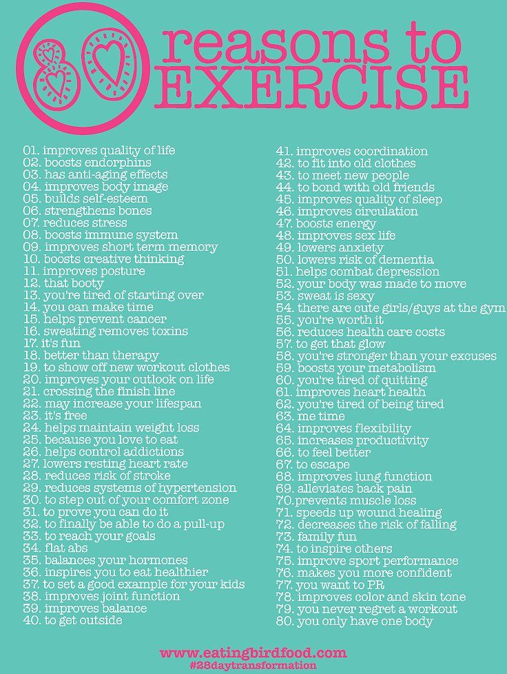 80 Reasons to Exercise | POPSUGAR Fitness