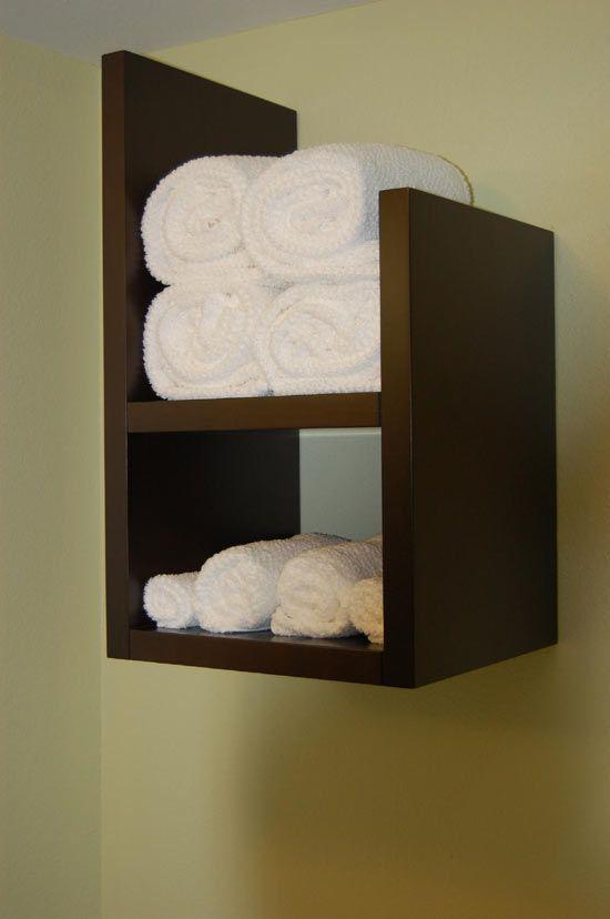 Towel Cubby But Built Into The Wall Bathroom