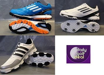 Today's Deal: Adidas Golf Shoe Sale – 3 Styles Available http://dailygolfdeal.co.uk/deals/deals/adidasgolf-shoes/