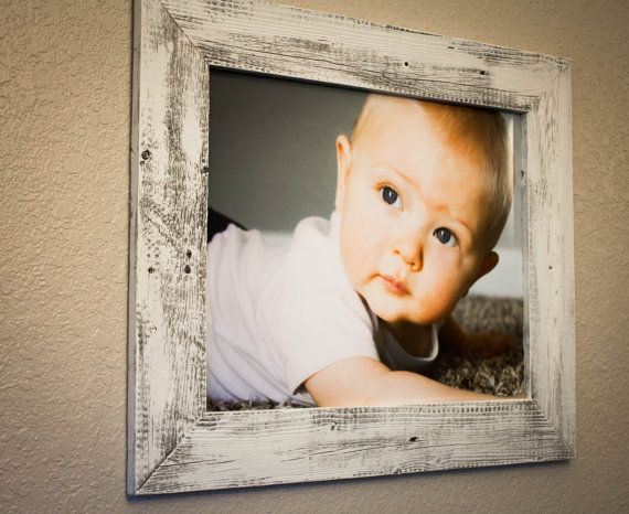 16 X 20 Barnwood Picture Frame Whitewashed (100% Reclaimed Wood) on Etsy, $55.00