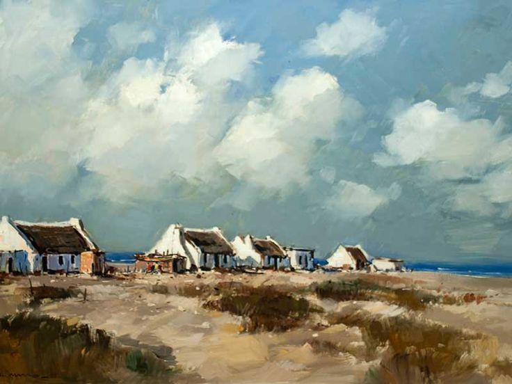 Wessel Marais (SA 1935 - 2009) Oil, Arniston Cottages