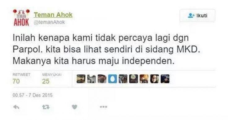 Ahok Maju dari Parpol, F-PAN: DKI Butuh Pemimpin Konsisten | News | Arah.Com
