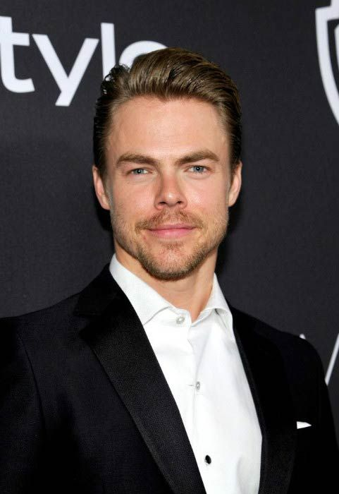 Derek Hough at the 2017 Golden Globe Awards Post-Party...