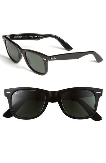 "I LOVE my Classic Ray-Ban Wayfarer sunglasses....feel like pulling a ""Tom Cruise"" everytime I wear them....just need a popped collar white men's shirt, some white sox, and a wood floor! Hahahahaha :)"