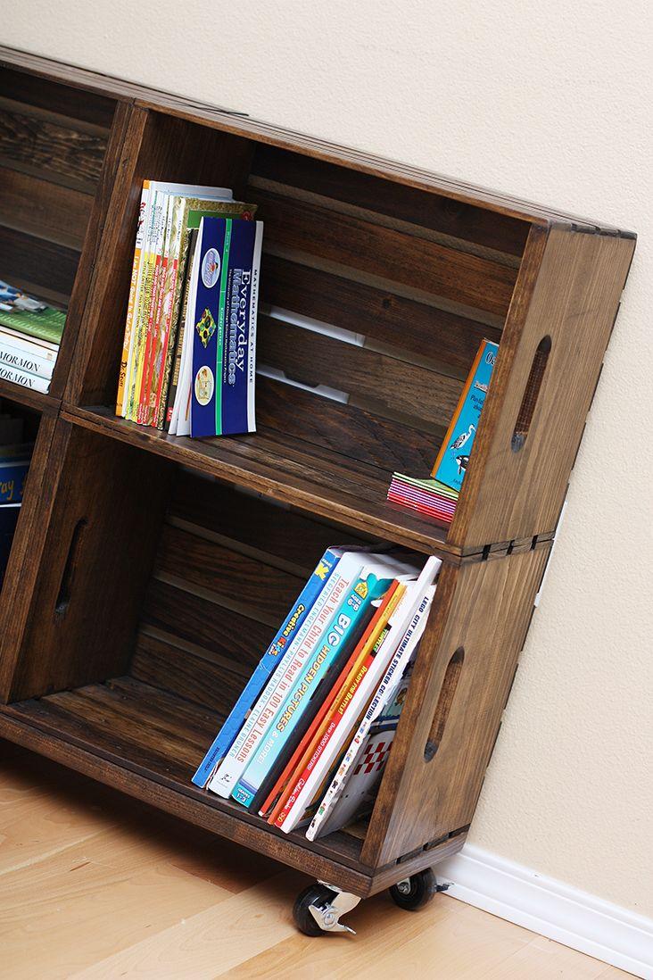 Do It Yourself Bookshelf Ideas: 17 Best Ideas About Crate Bookshelf On Pinterest