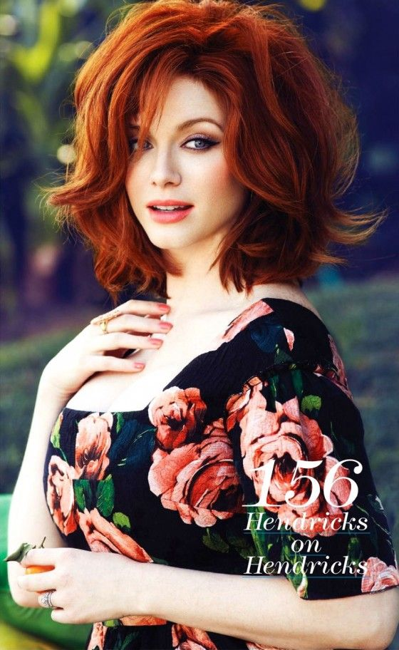 I am cutting my hair like this. Christina Hendricks in Flare Magazine 2013 -04