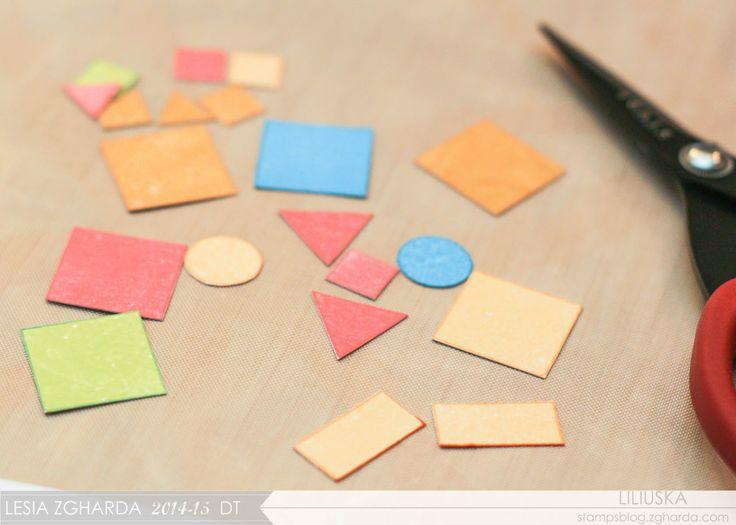 Конструктор із геометричних штампів / Shape Stamps as Building Blocks - Lesia Zgharda